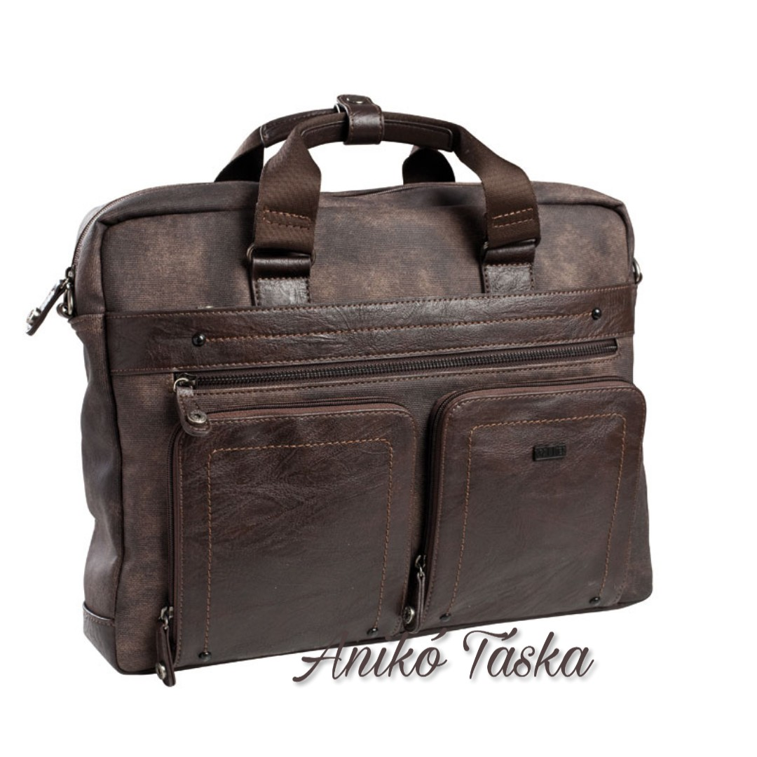 Matties laptoptartós elegáns táska barna