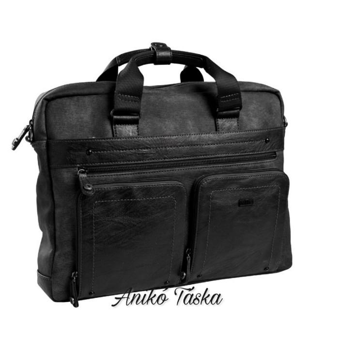 Matties laptoptartós elegáns táska fekete szürke