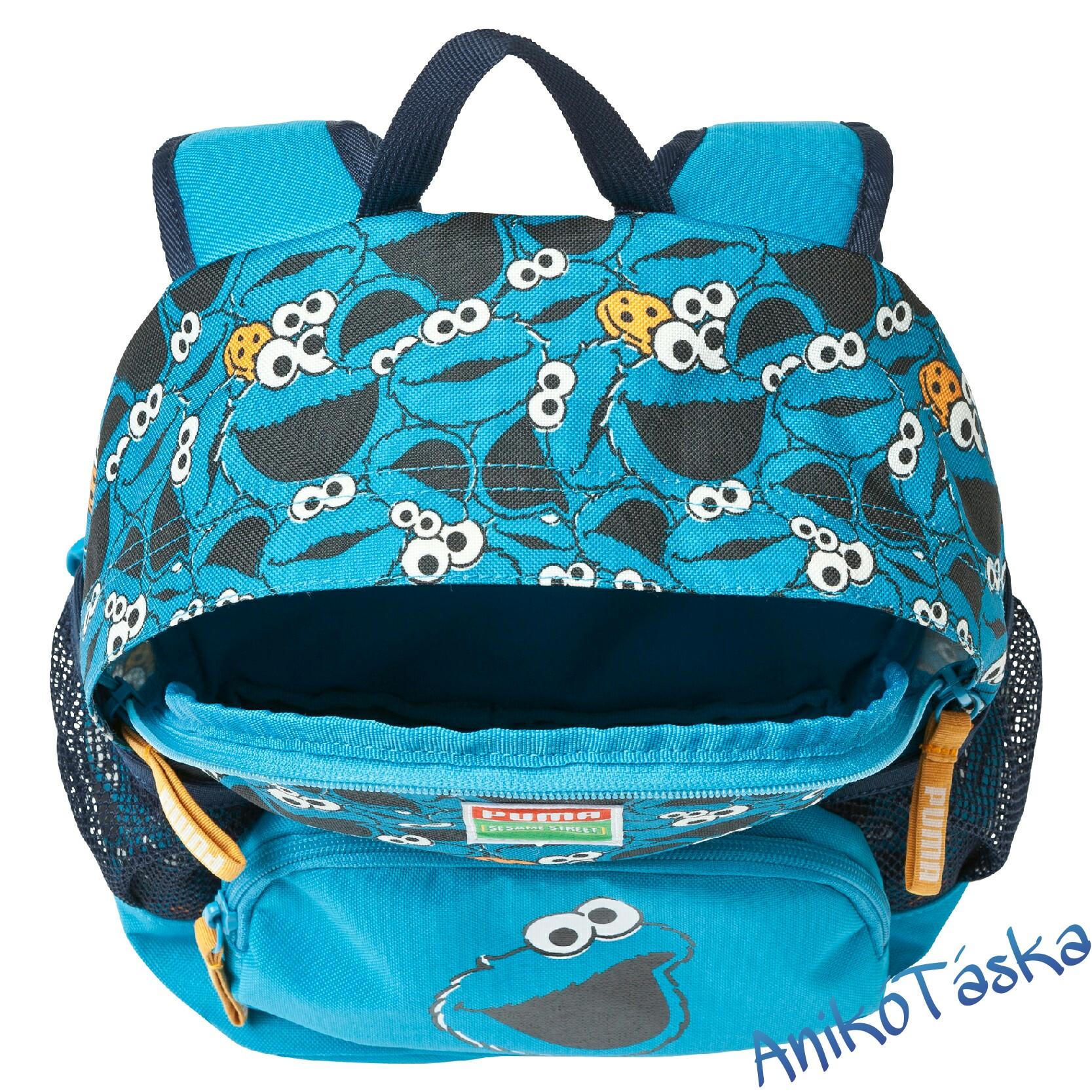 Gyerek háti táska kék Szezám utcás