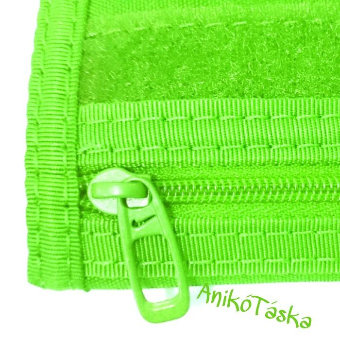 Nike tépőzáras sportos pénztárca világos zöld