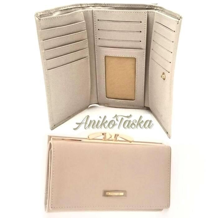 Bahamabézs színű kártyatartós keretes bőr női pénztárca 2e472282b3