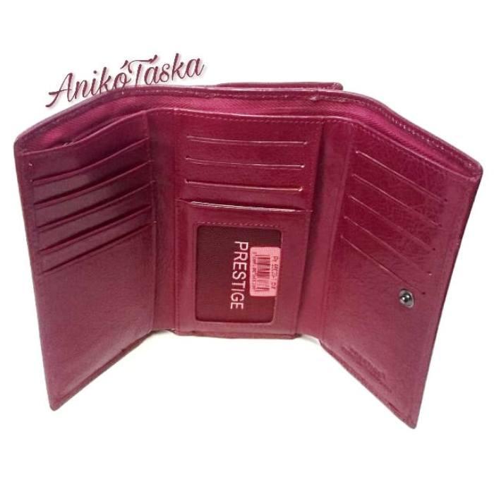 Piros sok kártyatartós keretes bőr női pénztárca c9034cfd1c