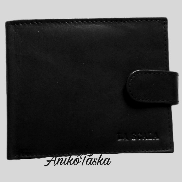 Közkedvelt fazonú bőr férfi pénztárca patentos fekete
