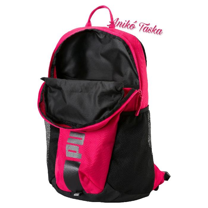Puma kulacstartós  három zsebes háti táska fekete-rózsaszín