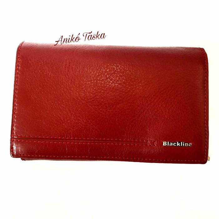 Piros női pénztárca fedeles sokkártyás Blackline