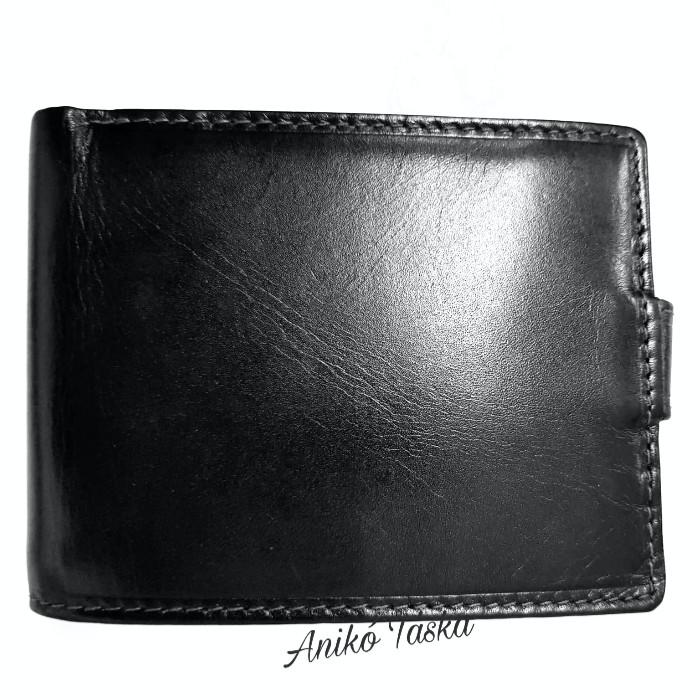 Férfi bőr pénztárca patentos fekete Corvo Bianco