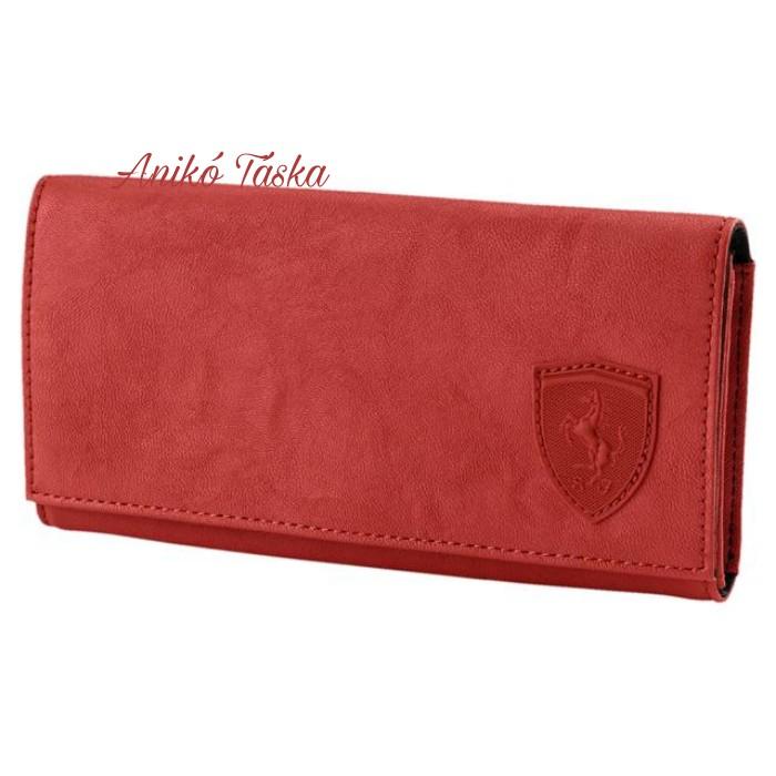Ferrari női pénztárca fedeles piros Puma