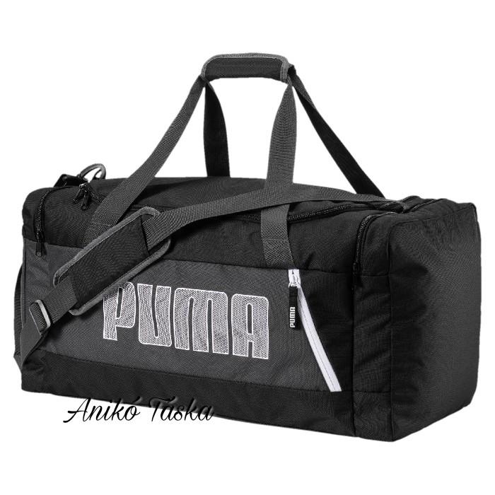 Puma M sporttáska feliratos fekete
