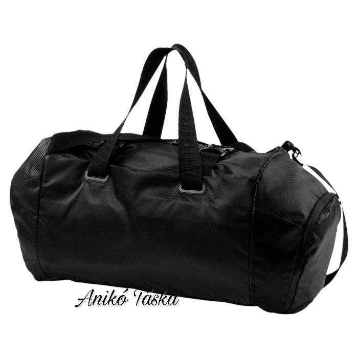 PUMA női fitnesz táska állítható pántos fényes fekete