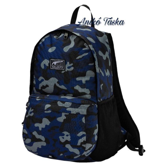 Puma hátizsák laptoptarós kék terep mintás