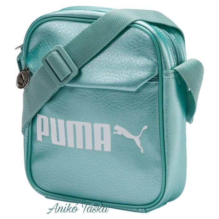 Puma kis oldaltáska műbőr fényes zöld