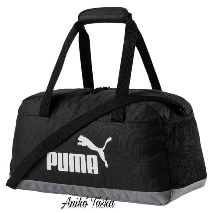 Puma vászon bowling táska állítható vállpánttal fekete