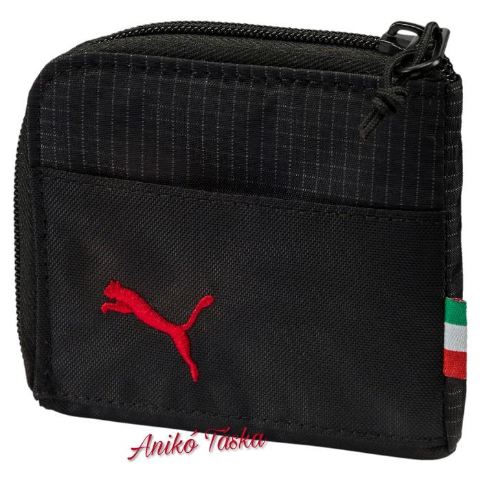Ferrari cipzáras kis pénztárca fekete Puma18