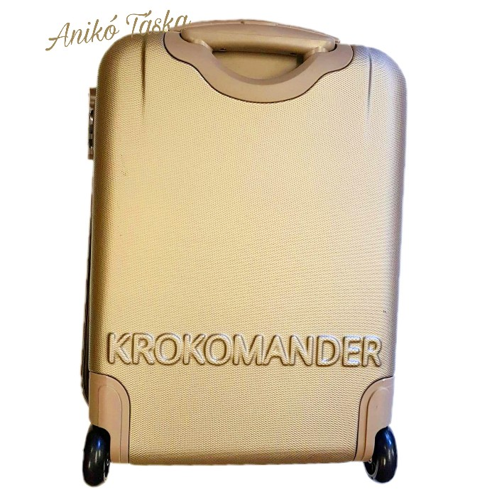 Kézipoggyász bőrönd pezsgőszínű