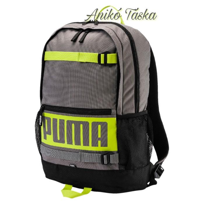 Puma sok zsebes háti táska gördeszka tartós szürke