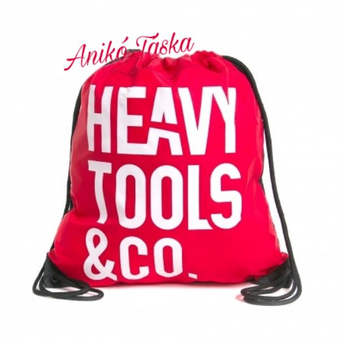 HeavyTools tornazsák piros