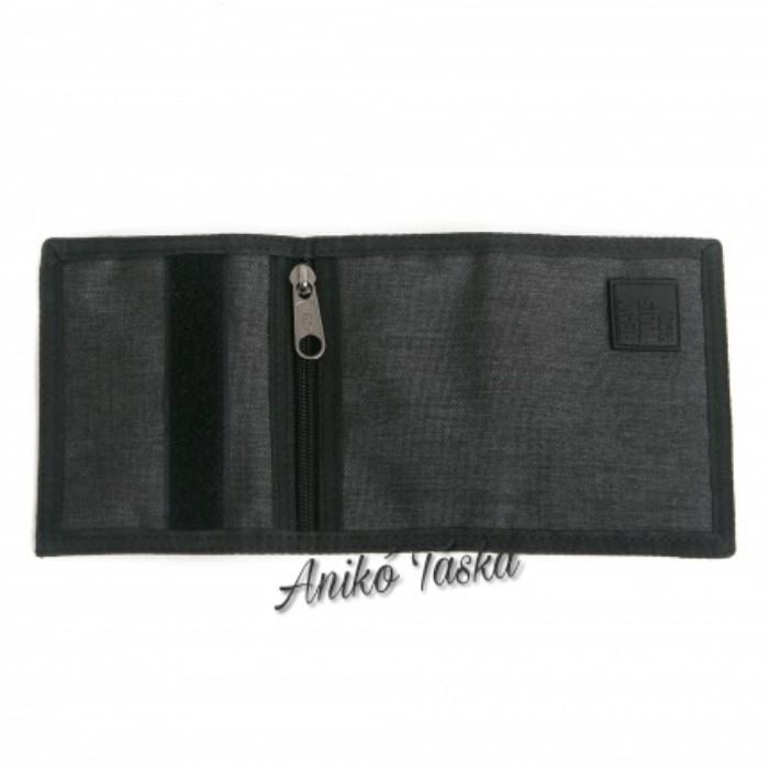 HeavyTools tépőzáras sportos pénztárca fekete