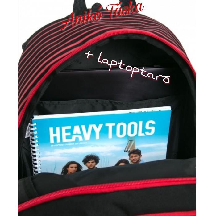 HeavyTools hátitáska Ettie háromszögmintás