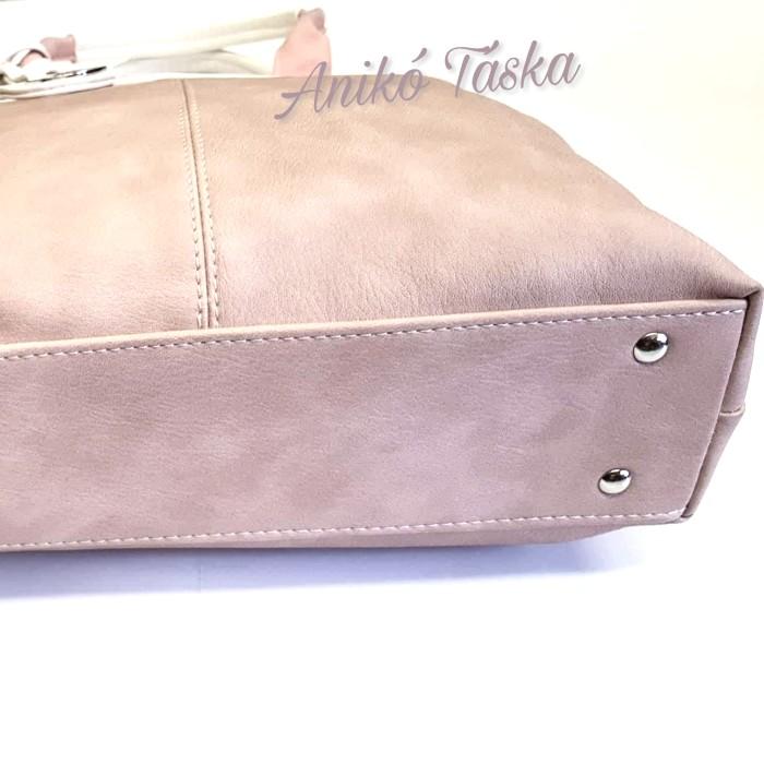 Karen női táska shopper fazon púderrózsaszín