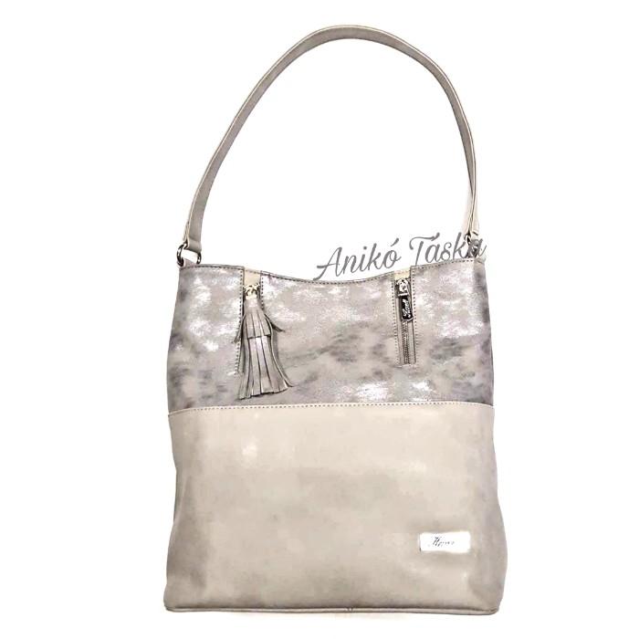 Karen rostbőr női táska ezüst