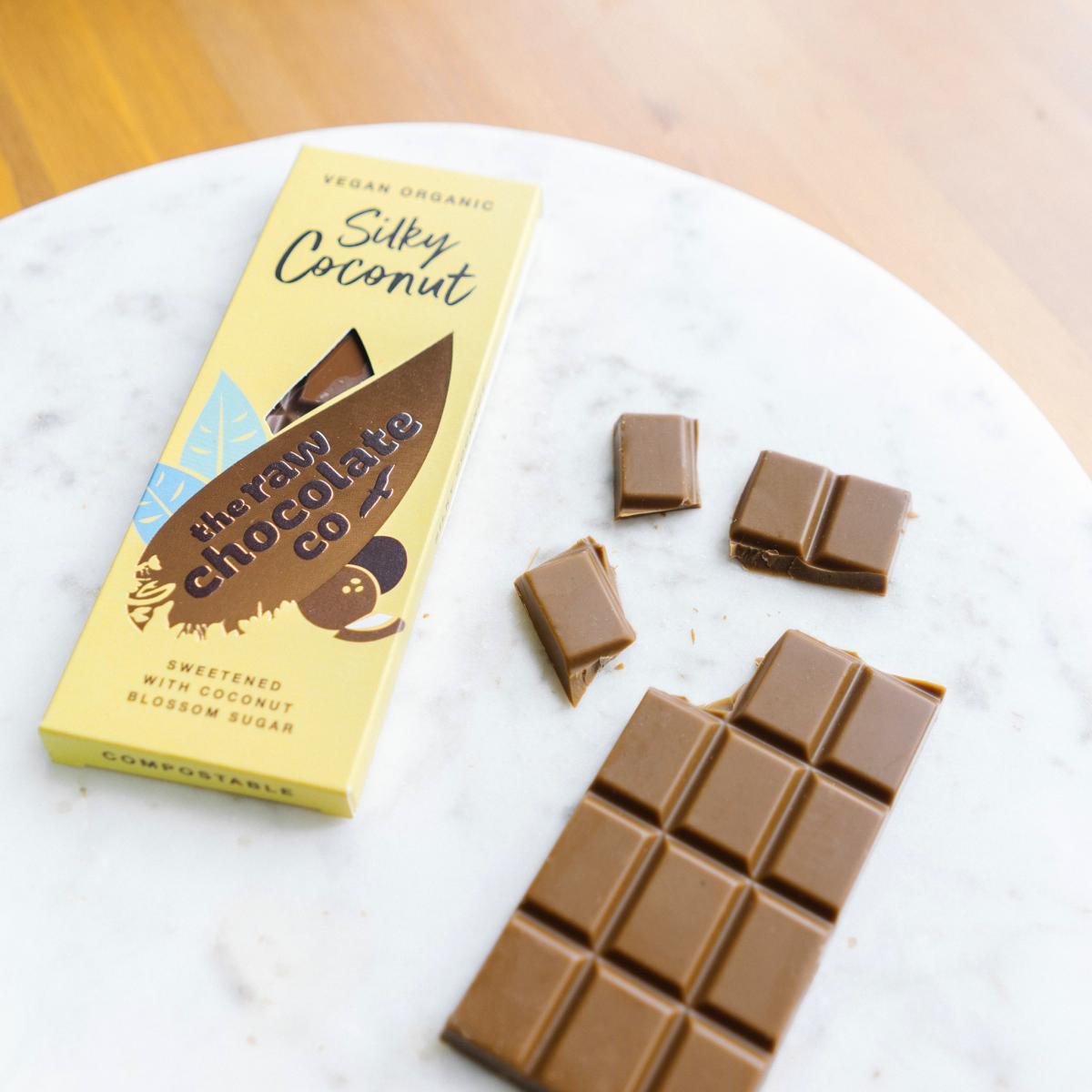 Nyers csokoládé  szelet - Kókuszos 38g