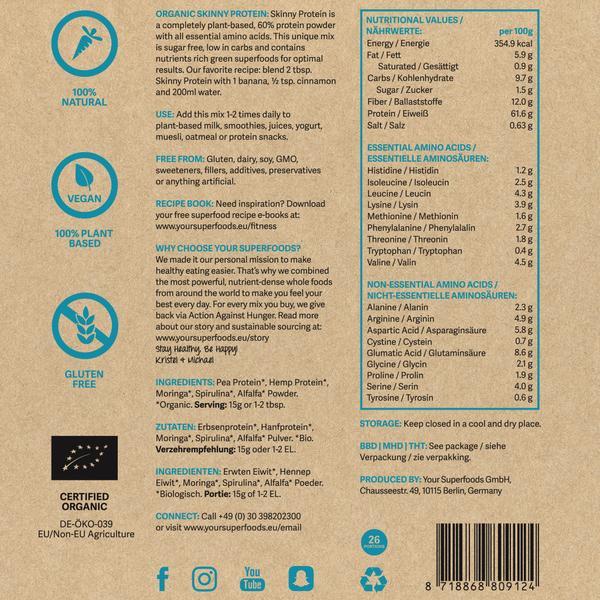 Organic Skinny Protein Mix 10x15g