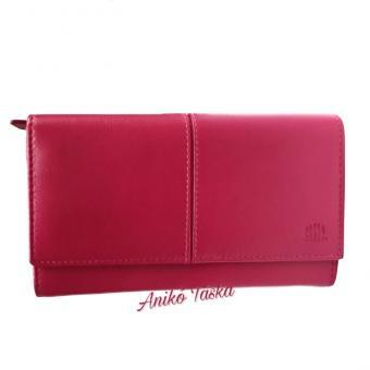 Pink bőr női nagy pénztárca Carelli