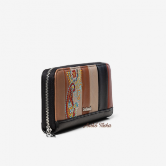 Desigual pénztárca nagy cipzáras sok színű