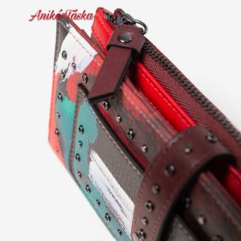 Desigual hosszú pénztárca sok kártyatartós színes