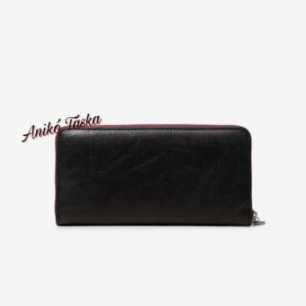 Desigual pénztárca nagy cipzáras hímzett fekete