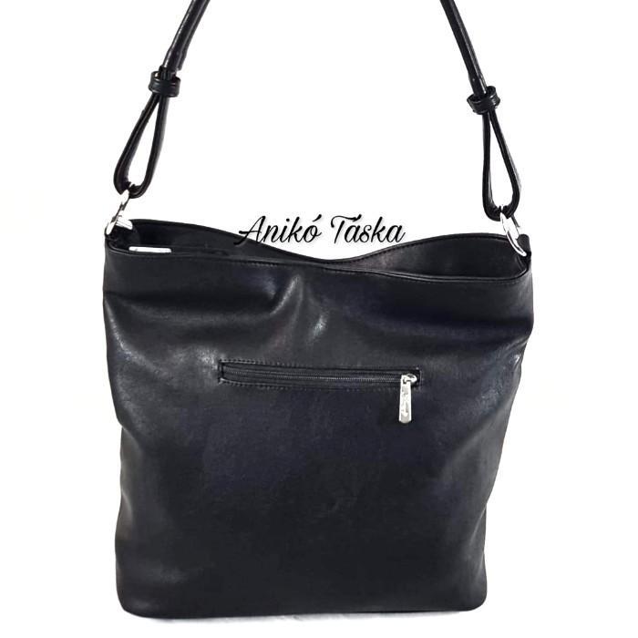 Karen nagy női táska csíkos egyfüles D391