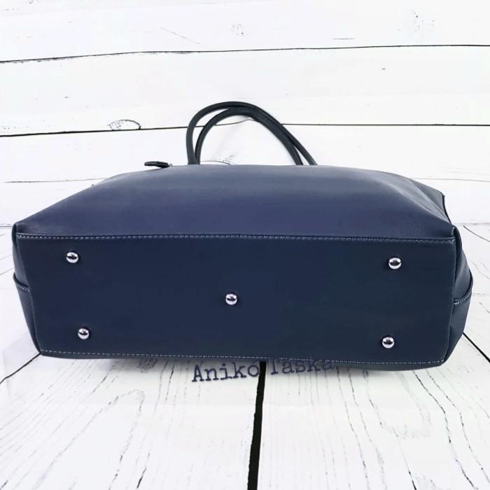 David Jones női táska nagy vékony laptoptartós kék