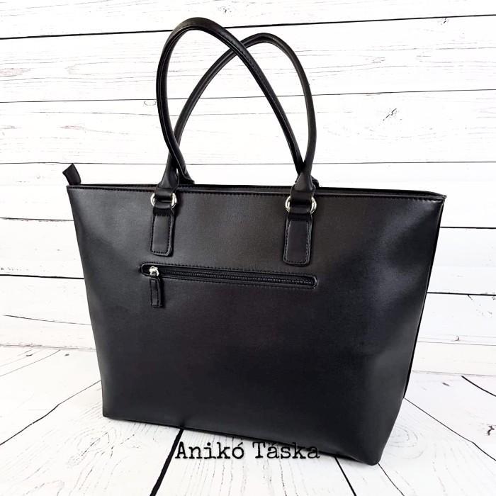David Jones női táska nagy vékony laptoptartós fekete