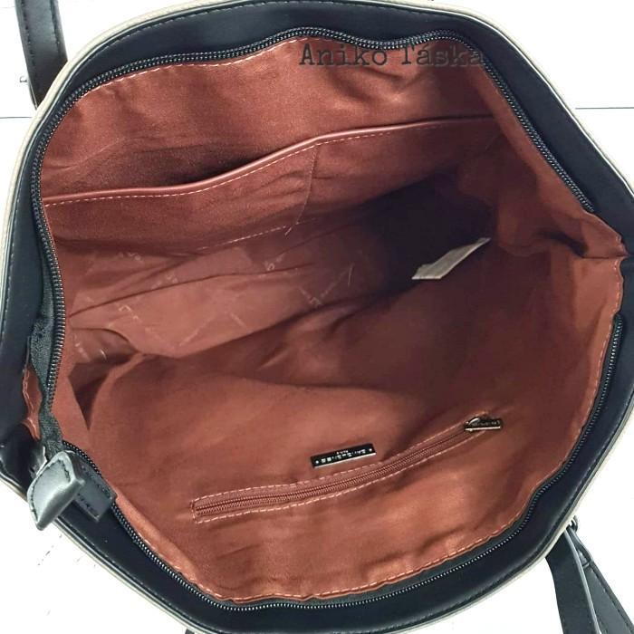 David Jones nagy női táska kézi és vállpántos fekete