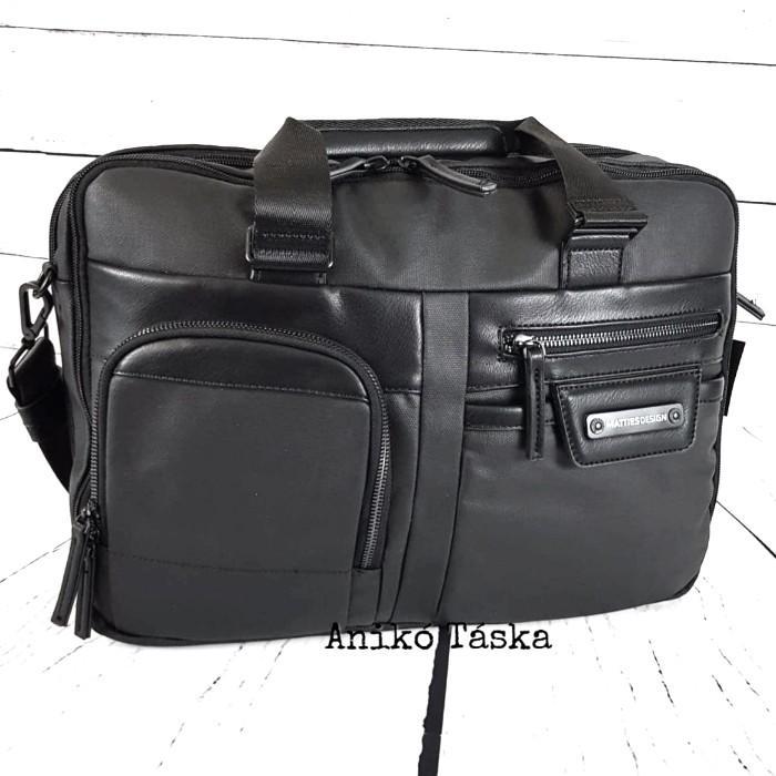 Matties laptop táska vászon fekete
