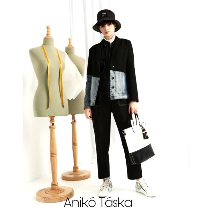 Desigual női táska shopper fazon plusz kis táskával fehér