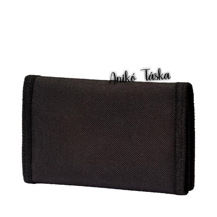 Puma pénztárca feliratos tépőzáras ugró puma mintás fekete