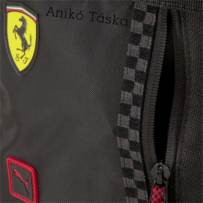 Ferrari vászon vékony átvetős táska fekete Puma20