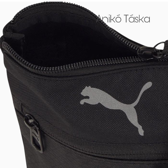 Puma lapos kis oldaltáska fekete