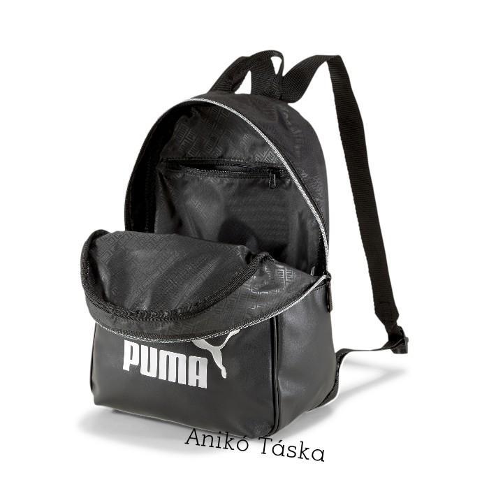 Puma női háti táska elegáns íves fekete