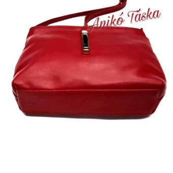 Billenő záras kis női bőr táska piros