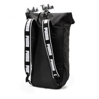 Puma laptoptartós hátizsák feltekerhető fedéllel fekete