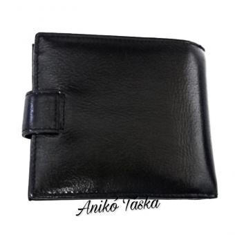 Prestige bőr férfi pénztárca kapcsos belül kapcsos fekete